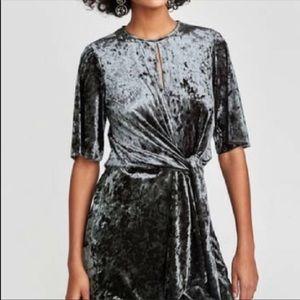 Zara velvet mini dress